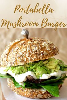 This vegan mushroom burger is super simple and easy. With just a few ingredients, dinner will be ready in 15 minutes. Grill or bake them, they're a crowd favorite. Top with a dairy free and egg free vegan aioli and you have yourself a delicious vegetarian Portabella Burger, Grilled Portabella Mushrooms, Stuffed Mushrooms, Veggie Recipes, Vegetarian Recipes, Healthy Recipes, Vegetarian Sandwiches, Vegetarian Dinners, Vegetarian Cooking