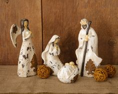 Your Heart's Delight by Audrey's - Nativity Set - Mary, Joseph, Baby Jesus, Angel