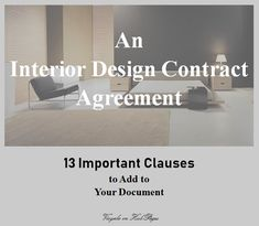 An is a signed pact between and their clients. Also called a letter of agreement, this document serves to define the projected works, timelines, and targets expected from and by each party. Find out the most important clauses the document must include. Interior Design Business Plan, Free Interior Design Software, Interior Design Guide, Interior Design Process, Interior Design Services, Business Design, Interior Designing, Diy Interior, Contract Agreement