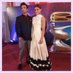 Sushant Singh Rajput and Kriti Sanon, PTC Punjabi Film Awards MyFashgram