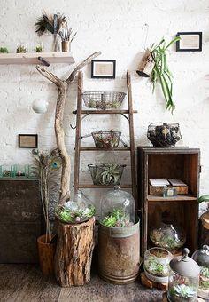 Les échelles de bois: 10 idées déco | Les idées de ma maison Photo: ©…