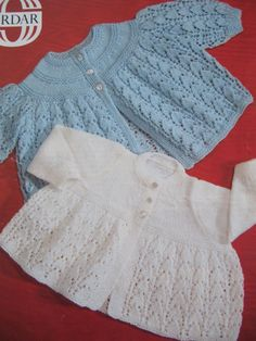 Vintage Baby Matinee Set Knitting Pattern by lovevintagecrafts #knitting #babyknittingpatterns #vintageknitting