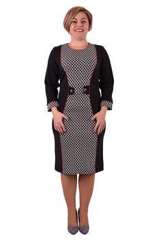 Šaty s jedinečným zoštíhľujúci strihom, kde boky a rukávysú vyrobené z vysoko kvalitnej tkaniny v čiernej farbeopticky zoštíhľujúce siluetu.Predná stranašiat a manžety na rukávoch sú šité z tkaniny v mäkkom dvojfarebnom pepito vzore, a zapínajú sa ozdobnými gombíkmi. Mierne pružná látkarobí šaty dokonale padnúce na postavu.  Dodanie cca 10-15 pracovných dní