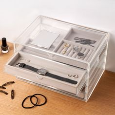 Acrylic 5 drawer customizable jewelry box