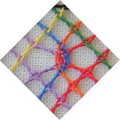 La spirale de losanges C'est une spirale d'exercices, pour tester différentes araignées (ou grains d'orge) ce sont donc des losanges de 5 pas sur 5 que l'on va remplir. Le but étant de &voir& l'effet de remplissage et le cheminement des couleurs pour...
