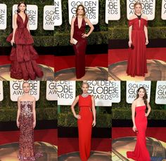 Golden Globe 2016 red carpet dresses - reds