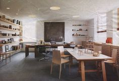 """Metropolitan Home, December 2005/January 2006 issue, heralds England's leading purveyor of design, TERENCE CONRAN, at his country estate, BARTON COURT. It is a """"throwback to old English landed estates: its a completely self-contained village."""" But there's nothing """"old English"""" about its owner, or his taste in furniture.  Terence Conran who has sold more chairs at retail in England than perhaps any one in history could have any chairs he wants in his office. His choices? Behind his desk, an…"""
