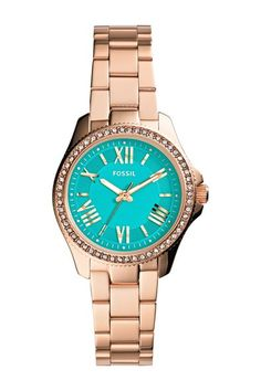"Women""s Cecile Small Crystal Bezel Bracelet Watch. Sponsored by Nordstrom Rack."