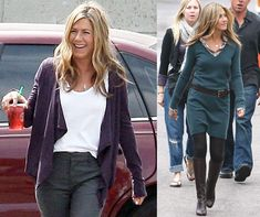 Photos of Jennifer Aniston Working On The Set of the Baster ...