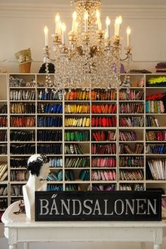 Welcome to Båndsalonen Organization, Organizing, Copenhagen, Knapper, Projects To Try, Ceiling Lights, Sewing, Travelling, Fabric