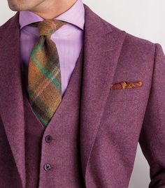 Very Nice Colour Styling!!! I Love The Tartan Tie!!!