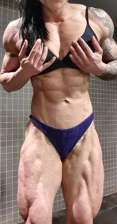 #muscle #fitness #motivation #bodybuilding #girlpower #muscular #woman #abs #biceps #flex