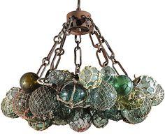 wonderfully jolly chandelier, from glass floats-.xx tracy porter. poetic wanderlust. xx