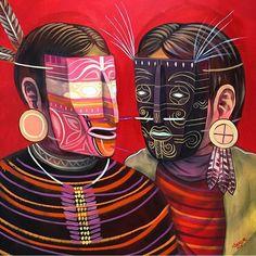 Art And Illustration, Cozumel, Graffiti, Mexico Art, My Art Studio, Mexican Artists, Tribal Art, Sculpture Art, Illustrators