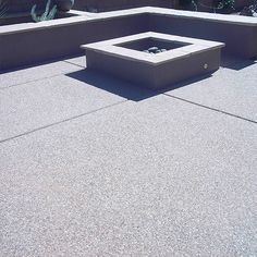 Exposed aggregate concrete can almost be compared to a piece of granite or marble transformed by polishing: A plain, unremarkable surface has been Exposed Aggregate Driveway, Exposed Concrete, Concrete Finishes, Concrete Floors, Driveway Design, Driveway Ideas, Driveway Gate, Decorative Aggregates, Fire Pit Patio