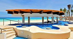 Omni Cancun Hotel & Villas. Cancun, Mexico. In-pool sipping of all-inclusive beverages is strongly recommended