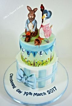 Peter Rabit and Jemimia Puddleduck Cuteness - Cake by Ellie @ Ellie's Elegant Cakery