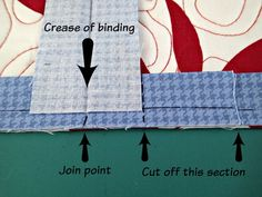 Easy trick to perfectly join quilt binding - So Sew Easy Quilting Tools, Quilting Tutorials, Hand Quilting, Quilting Projects, Quilting Designs, Sewing Tutorials, Sewing Projects, Sewing Tips, Quilting Ideas