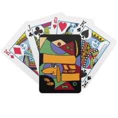 Abstract Art Dachshund Playing Cards #dachshunds #dogs #art #abstract #playingcards #original #pets #gifts #zazzle #petspower