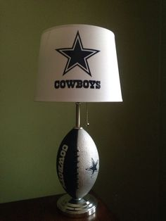 Dallas Cowboys football Lamp by thatlampguyGraz on Etsy https://www.etsy.com/listing/204708475/dallas-cowboys-football-lamp