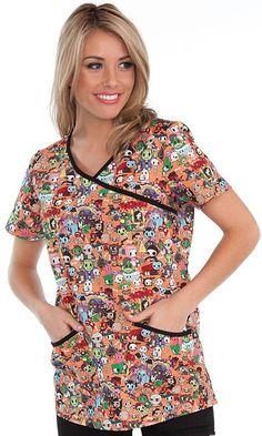 84c35265048 nurse patterned uniform - Google Search Halloween Scrubs, Koi Scrubs,  Professional Wear, Floral