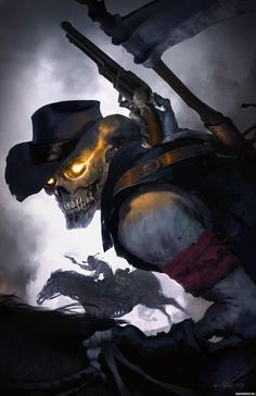 Squelette de cow-boy - New Ideas Dark Fantasy Art, Dark Art, Moonrise Kingdom, Skull Face, Cow Skull, Dark Gothic, Line Art, Crane, Cowboy Art