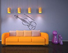 Violin Music Instrument Vinyl Decal Sticker Art by VinylDecals2U, $25.00