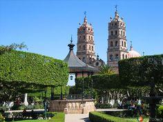 Plaza principal en Salvatierra Guanajuato.