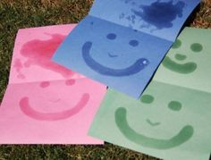 EXPERIMENT:  Test the Effectiveness of Sunscreen by painting it on a piece of colored paper.  Leave the paper in the sun and it should bleach all the area's except where the sunscreen is.