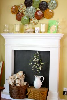 faux fireplace ... if my place of living does not have a real fireplace ... guess what's happening.