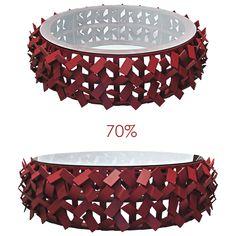 Mesa de Centro Xique Xique Designer Sergio Matos 70% de desconto!