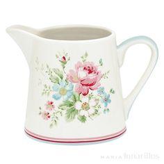 GreenGate Stoneware Creamer Marie Pale Blue H 8 cm Shops, Emma Bridgewater, China Painting, Danish Design, Pottery Art, Pink Blue, Stoneware, Tea Pots, Decoupage