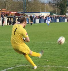 Tonbridge keeper Jonathan Henly not put off by the visiting fans.
