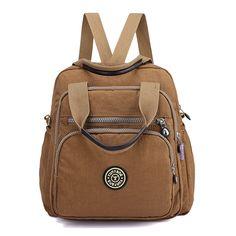 Women Lady Nylon Elegant Stylish Multipurpose Backpack Travel Shoulder Bag