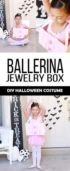 Halloween: DIY Ballerina Jewelry Box Costume - See Vanessa Craft Boxing Halloween Costume, Halloween Dress, Halloween 2020, Halloween Kids, Halloween Party, Easy Diy Costumes, Creative Costumes, Ballerina Jewelry Box, Best Couples Costumes