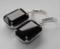 Black Earrings Estate Style Earrings Dangle by GoingHoLLyWood, $21.00 - Etsy