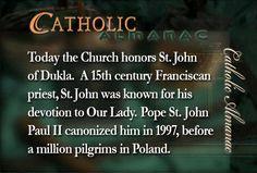 #SaintJohnofDukla #prayforus #Franciscan