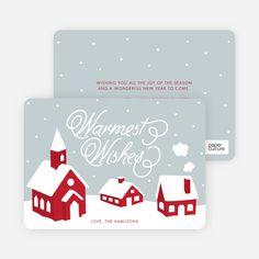 Peaceful Village Winter Wonderland: Warmest Wishes