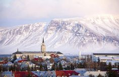 Reykjavik and Mount Esja, Iceland Mt. Esja is located in Kjalarnes, past the town of Mosfellsbaer just east of Reykjavík. It is accessible by the number 15 bus from Hlemmur bus station. Get off at Háholt in Mosfellsbaer, then take the number 57 to the foot of Esja at Hiking Centre Esjustofa.