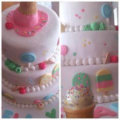Torta helados y dulces