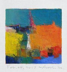 Feb. 24 2017 Original Abstract Oil Painting by hiroshimatsumoto
