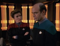 Episode,Eye of the Needle -Taking on board the complaint Kes had made about the Doctors treatment by the crew Janeway goes for a chat..She suggests giving him control over his deactivation sequence despite her earlier stance of reprogramming him..