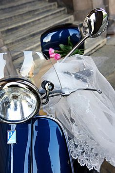 Claire's wedding vespa