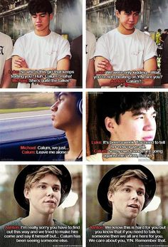 Imagine: You're dating Calum but while he's on tour he cheats on you and the boys find out. (c)5SOS_Imagining