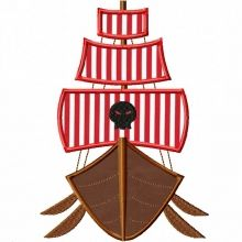 Pirate Ship Applique - Where the Fairy Tale begins - Custom Embroidery