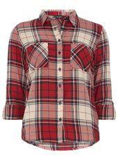 Dorothy Perkins Red and Navy Check Shirt