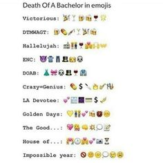 Death Of a Bachelor By Panic! At the Disco in emojis