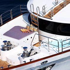 Summer is full of adventures and unique experiences. Molori Design superyacht ' Told u So'.Towels by Yacht Interior, Yacht Design, Super Yachts, Canoe, Towels, Adventure, Missoni, Unique, Summer