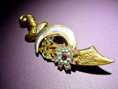 Coro Pegasus Brooch Sterling and Vermeil Sword by RenaissanceFair