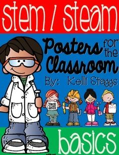 These posters are the perfect addition to any STEM or STEAM classroom!  Featuring Melonheadz clipart, each letter includes an appropriately themed kid and will serve as a great visual reminder of each STEM/STEAM strand for your littles.